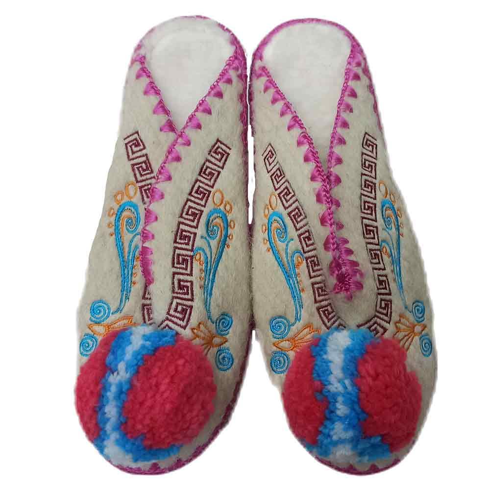 Traditional open Woollen Slippers , Size 35 - 46