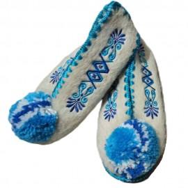 Traditional Greek Closed children Woollen Slippers  Size 16 - 34