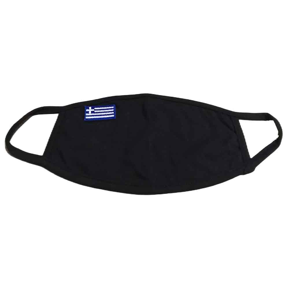 Face Mask with the Greek Flag embroidered